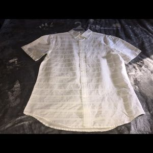 NWT Old Navy white button up small/slim